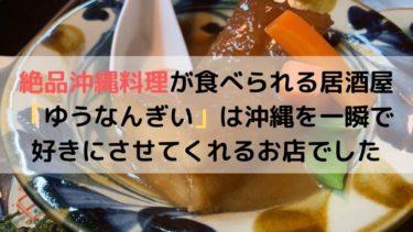 絶品沖縄料理が食べられる居酒屋「ゆうなんぎい」は沖縄を一瞬で好きにさせてくれるお店でした